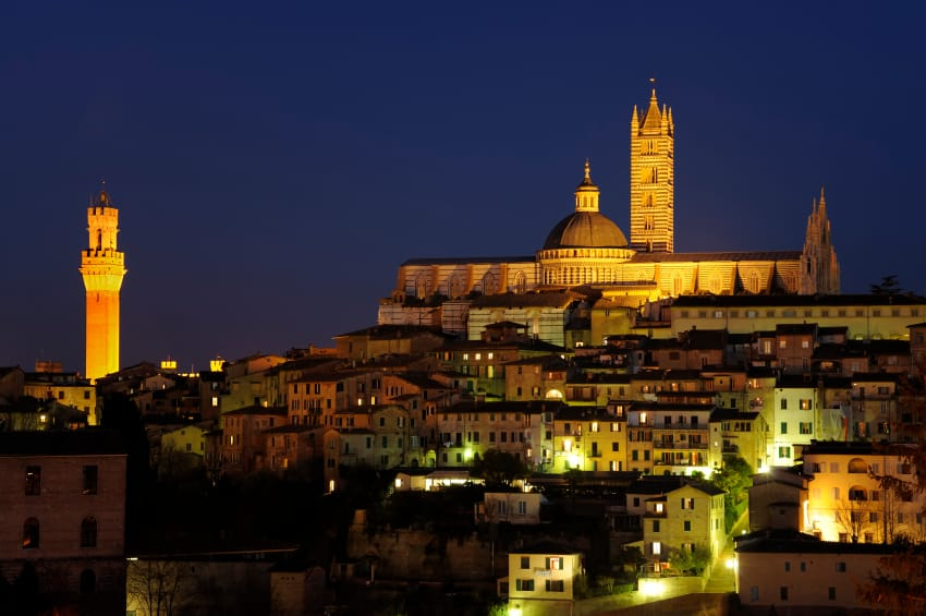 Siena at night